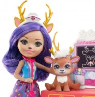 Set de joaca Papusa Danessa Deer si Cabinetul Veterinar EnchanTimals