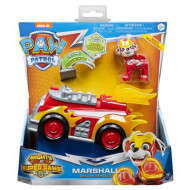 Set Marshall si Super Masina de Pompieri cu sunete si lumini Paw Patrol Mighty Pups - Patrula Catelusilor