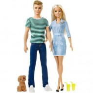 Set Papusa Barbie, Ken si catel