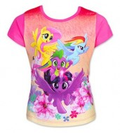 Tricou cu maneci roz My Little Pony marime 104