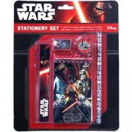 Set 5 instrumente de scris cu carnetel de notite Star Wars