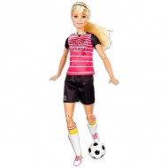 Papusa Barbie Made To Move flexibila fotbalista blonda - Complet Articulata