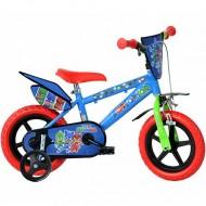 """Bicicleta pentru copii cu roti ajutatoare 12""""Eroi in Pijama"""