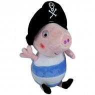 Figurina de plus Peppa Pig 25 cm George pirat