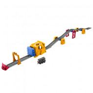 Set de joaca Thomas and Friends - Circuit Tunnel Blast Push Along Track Master cu trenulet Diesel