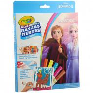 Carte de colorat Frozen cu carioci magice Mess Free Crayola
