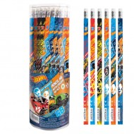 Creion grafit cu radiera Hot Wheels