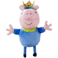 Figurina de plus Peppa Pig 35 cm George print