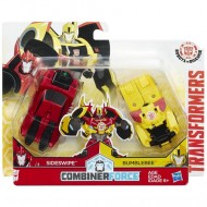 Figurine Robot Sideswipe si Bumblebee Transformers Combiner Force