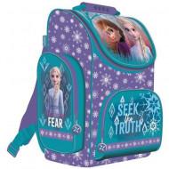 Ghiozdan ergonomic Elsa si Anna Frozen, cu pereti rigizi, 35 cm