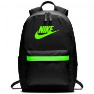 Ghiozdan rucsac Nike Heritage 2.0 negru cu verde
