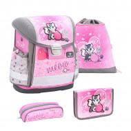 Ghiozdan scoala echipat Belmil Classy - Pisicuta roz