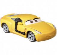 Masinuta metalica Cruz Ramirez antrenor cu casca Disney Cars 3