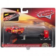 Masinuta metalica Fulger McQueen cu lansator Disney Cars