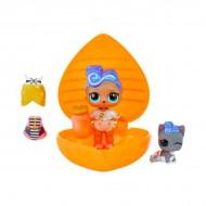 Pachet surpriza LOL Surprise Bubbly cu papusa si accesorii in gentuta portocalie
