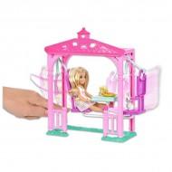 Papusa Chelsea blonda cu balansoar - Barbie