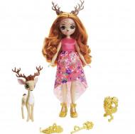 Papusa Queen Daviana si figurina Grassy EnchanTimals Royal