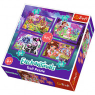 Puzzle Enchantimals 4 in 1 - 35, 54, 70 si 48 piese