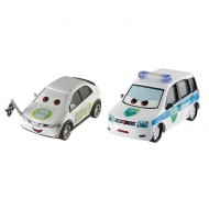 Set 2 masinute metalice Alex Carvil si Erik Laneley Disney Cars 3