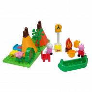 Set de constructie Big Bloxx Peppa Pig set camping