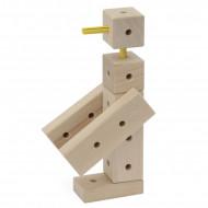Set de constructie din lemn 108 piese Matador