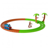 Set de joaca Thomas and Friends - Circuit Monkey Trouble Track Master Push Along cu trenulet Thomas