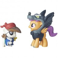 Set Figurine Pip Pinto Squeak şi Scootaloo in costume de Halloween My Little Pony