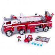Set Marshall si Masina de Pompieri cu lumini si sunete Ultimate Rescue Patrula Catelusilor