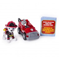 Set Marshall si mini masina de pompieri Ultimate Rescue Patrula Catelusilor