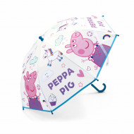 Umbrela transparenta Peppa Pig 70 cm