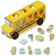 Autobuzul de Scoala cu numere din lemn Melissa&Doug