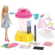 Set de joaca Papusa Barbie si studio Crayola