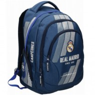 Ghiozdan rucsac ergonomic F.C. Real Madrid, 3 compartimente, 45 cm