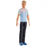 Papusa Ken cu tricou si pantaloni lungi Barbie Dreamtopia