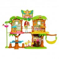 Cafeneaua din Jungla - Set de joaca Enchantimals cu papusa Peeki Parrot