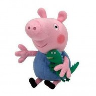 Figurina de plus Peppa Pig 35 cm George si micul crocodil
