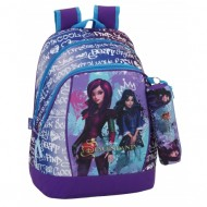 Ghiozdan rucsac scoala Disney Descendants 42 cm + penar cilindric Descendants