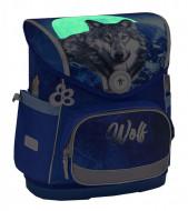 Ghiozdan scoala echipat Belmil Compact - Lupul albastru