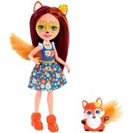 Papusa Felicity Fox cu figurina Flick EnchanTimals