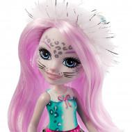 Papusa Sybill Snow Leopard si figurina Flake EnchanTimals
