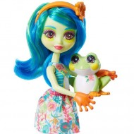 Papusa Tamika Tree Frog cu figurina Bust EnchanTimals