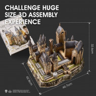 Puzzle 3D Harry Potter Turnul astronomic Hogwarts 243 piese