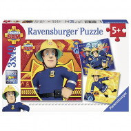 Puzzle Pompierul Sam 3x49 piese