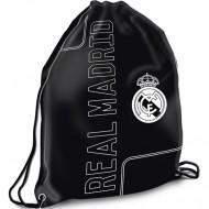 Sac de umar cu snur Real Madrid negru