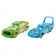 "Set 2 Masinute Regele Strip Weathers Aka ""The King"" & Chick Hicks Disney Cars"