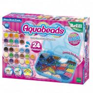 Set creativ Aquabeads cu 2400 margele 24 culori