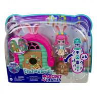 Set de joaca Cabana cu figurine Bree Bunny si animalute matrioska Enchantimals Secret Besties