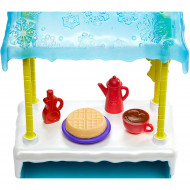 Set de joaca Hawna Husky si Whipped Cream - Standul cu ciocolata calda si waffles Enchantimals