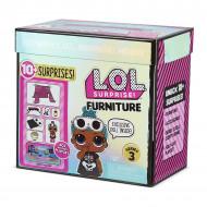 Set de joaca LOL Surprise Furniture Sleepover cu papusa Sleepy Bones Seria 3