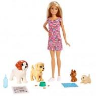Set de joaca Papusa Barbie si gradinita de catei